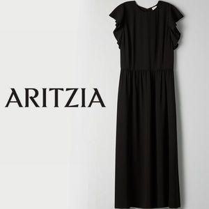 Aritzia Wilfred Fleurette Dress - 00 in black